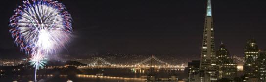 San Francisco Fireworks at Pier 39 - Saturday nights in October